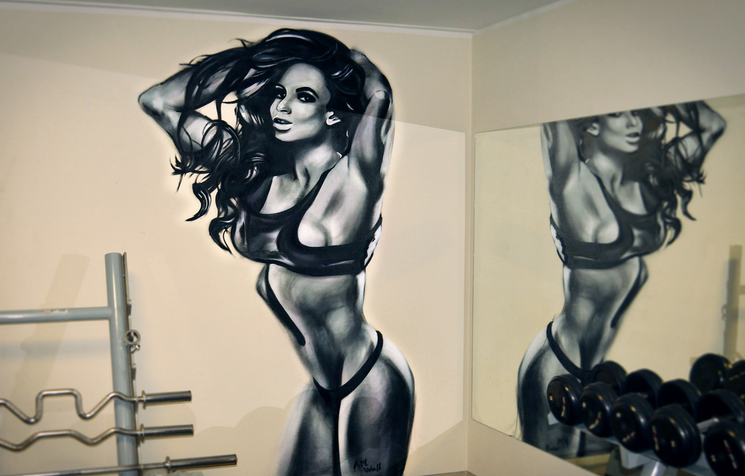 Fitness_girl artwall