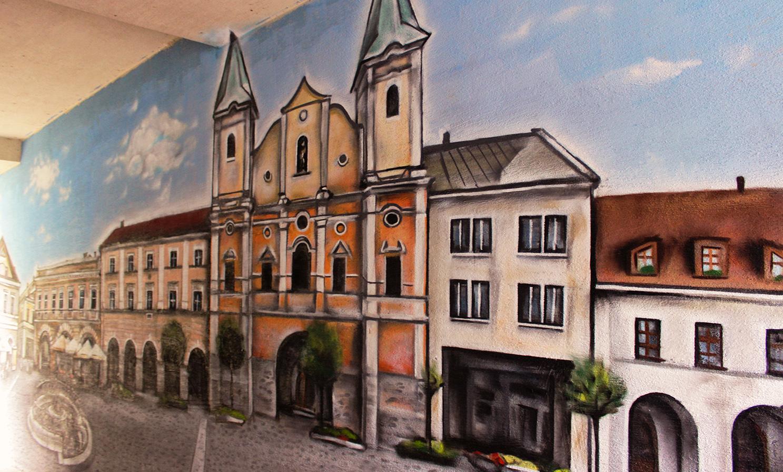 Farsky kostol_artwall