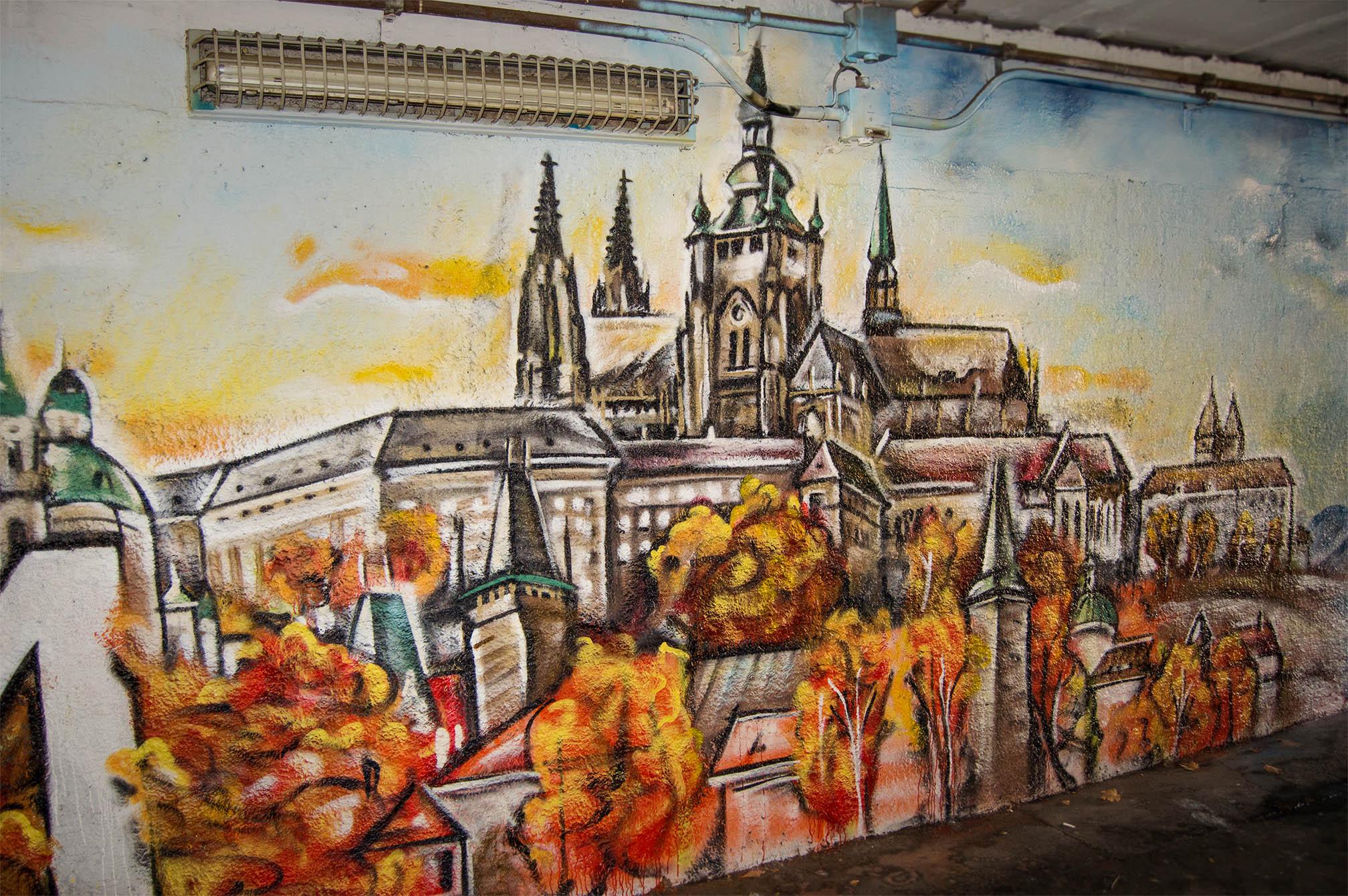 Praha_malba_artwall
