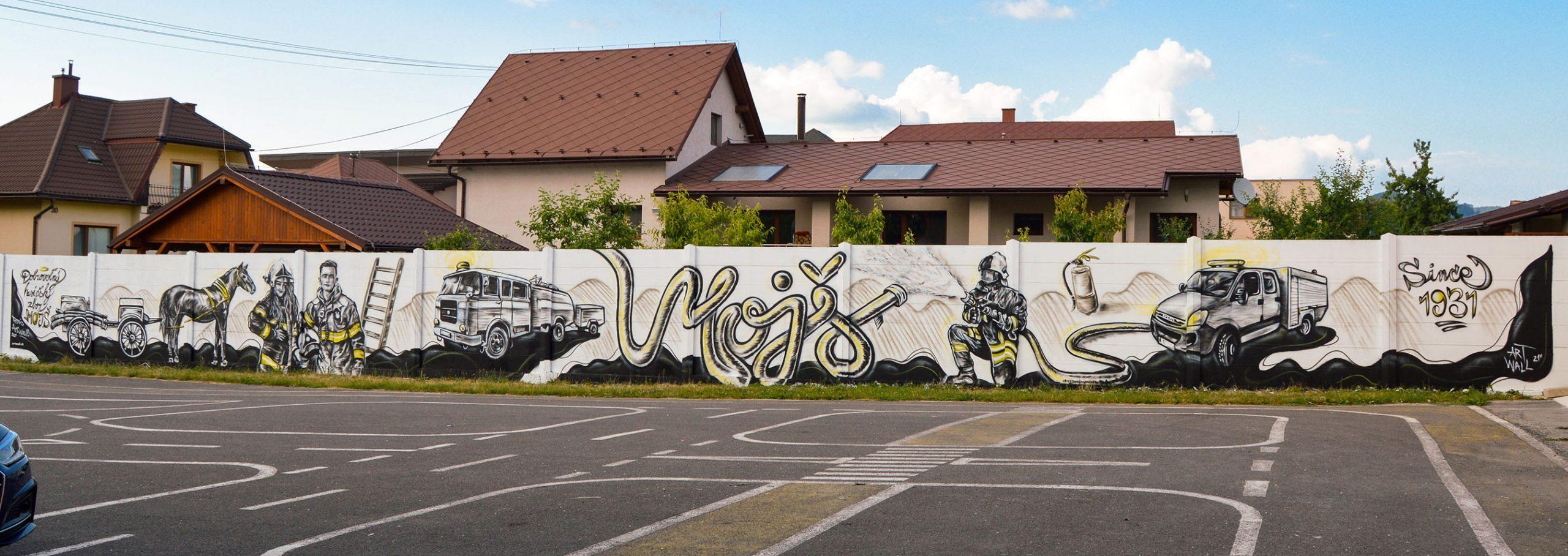 Mural pre hasičov, Mojš 2021